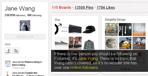 Jane Wang has got 2183950 followers