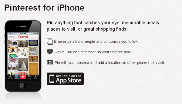 iphone application for Pinterest