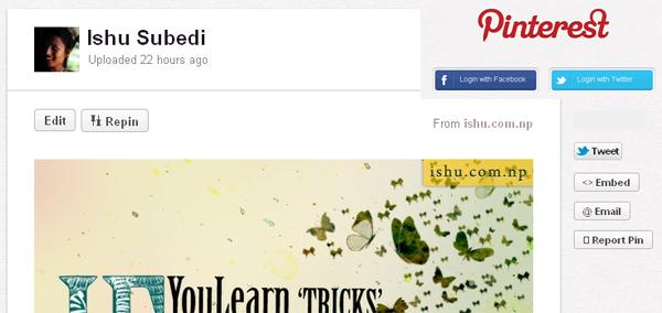 Social angle of Pinterest