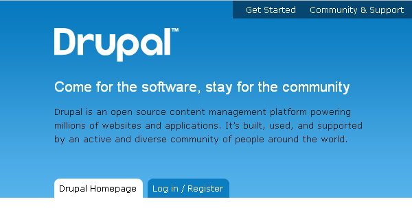 Drupal is an open source content management system