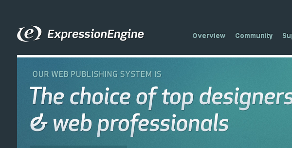 ExpressionEngine is an open source content management system
