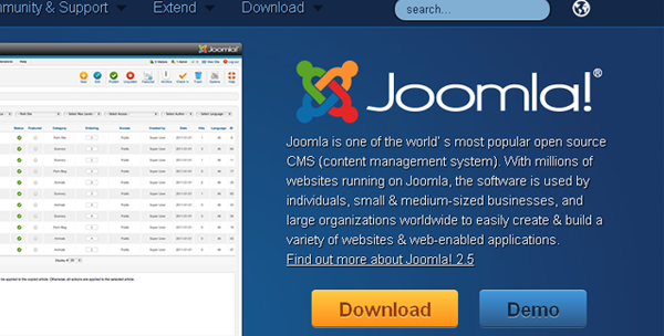 Joomla is an open source content management system