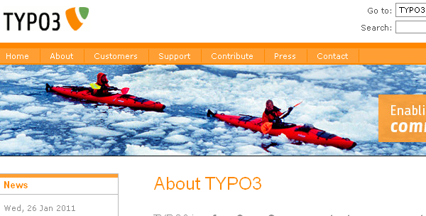 Typo3 is an open source content management system