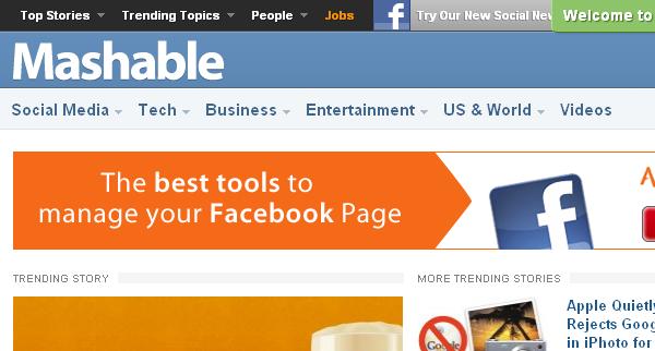 Mashable- social media blog