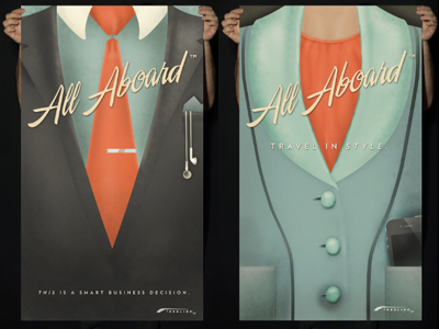 All Aboard: Suit Posters by Sarah Mick