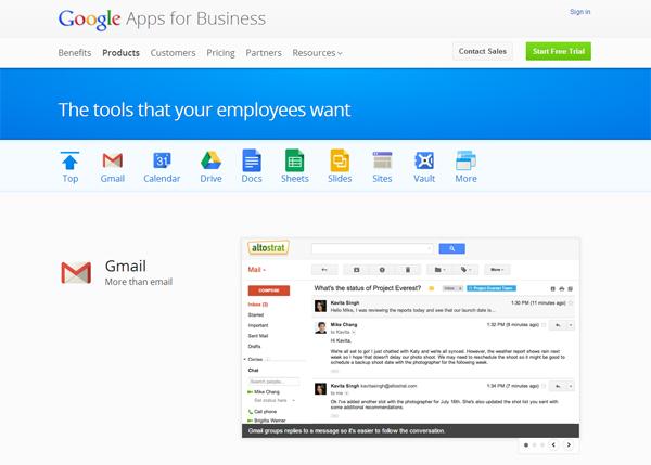 Google - most beautifully designed website