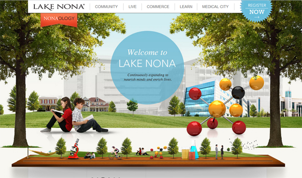 Lake Nona - most beautifully designed website