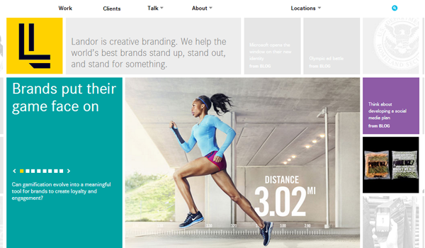 Landor - most beautifully designed website