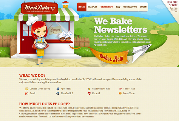 Mailbakery - most beautifully designed website