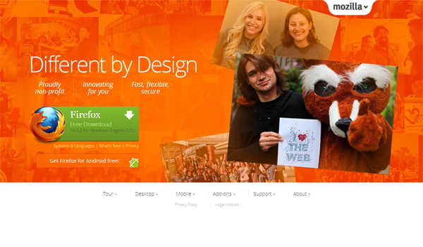 Mozilla - most beautifully designed website
