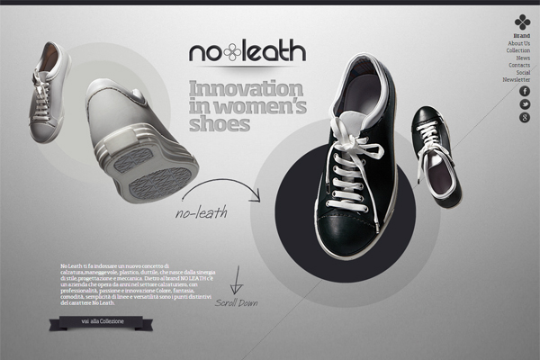 No Leath - most beautifully designed website