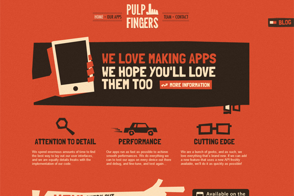 pulpfingers - most beautifully designed websites