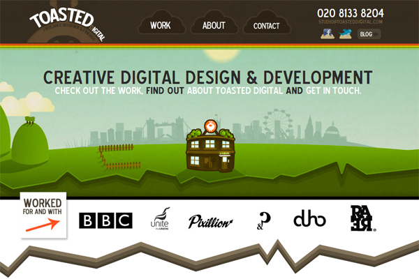 Toasted digital - most beautifully designed website