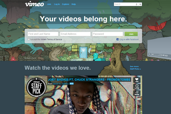 Vimeo - most beautifully designed website